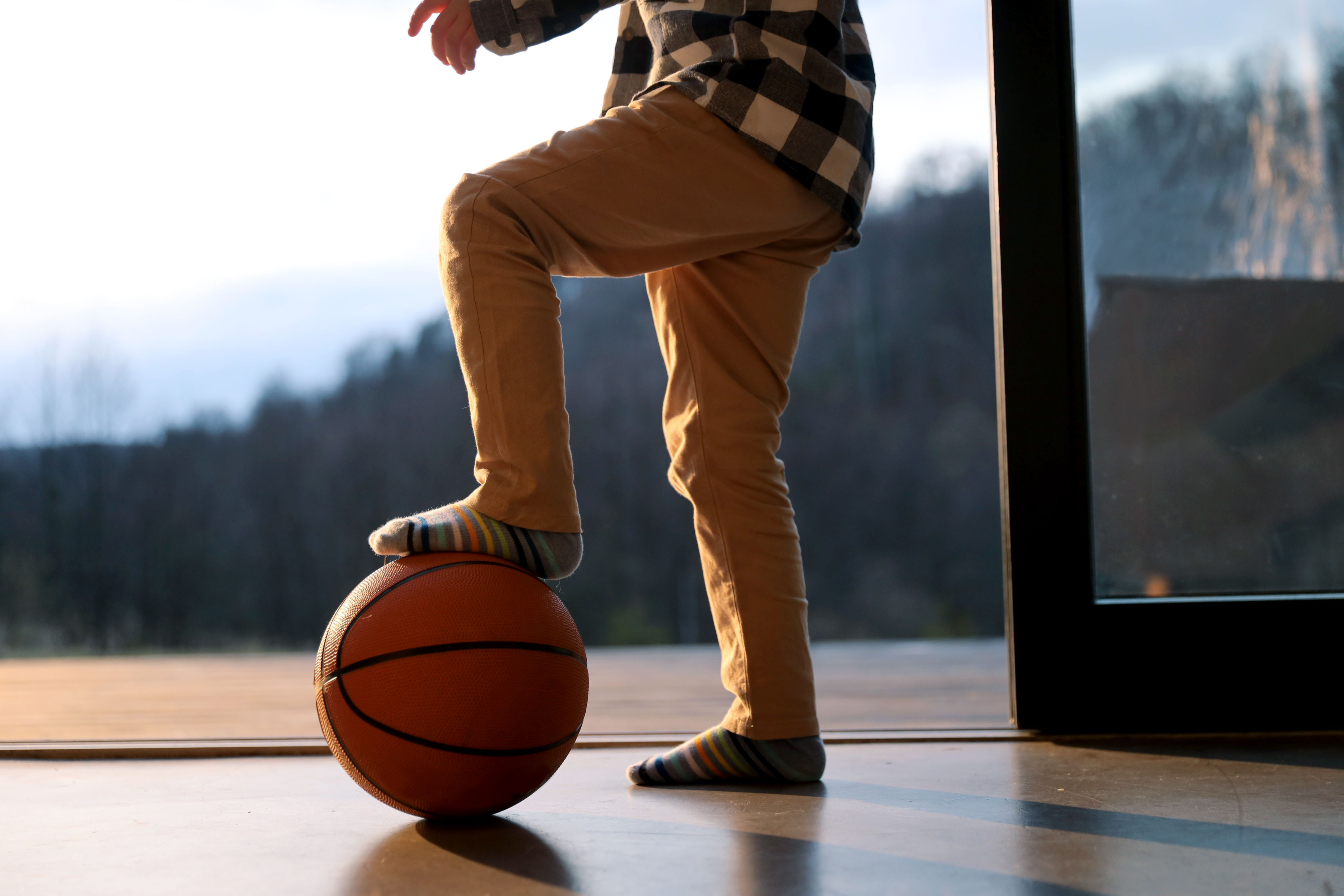Kid with Basketball