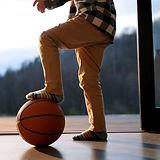 バスケットボールの子供