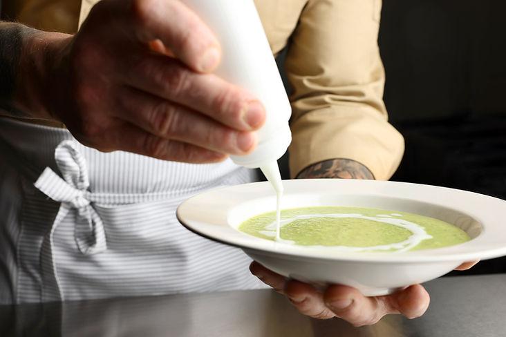 Garnishing Soup