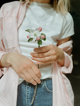 Holding a Flower