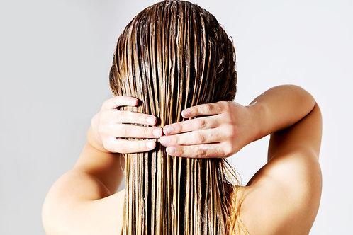 Kit Bain Huile cheveux et baume brillance