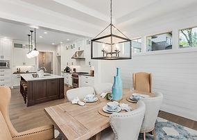 Sala de jantar e cozinha Interior