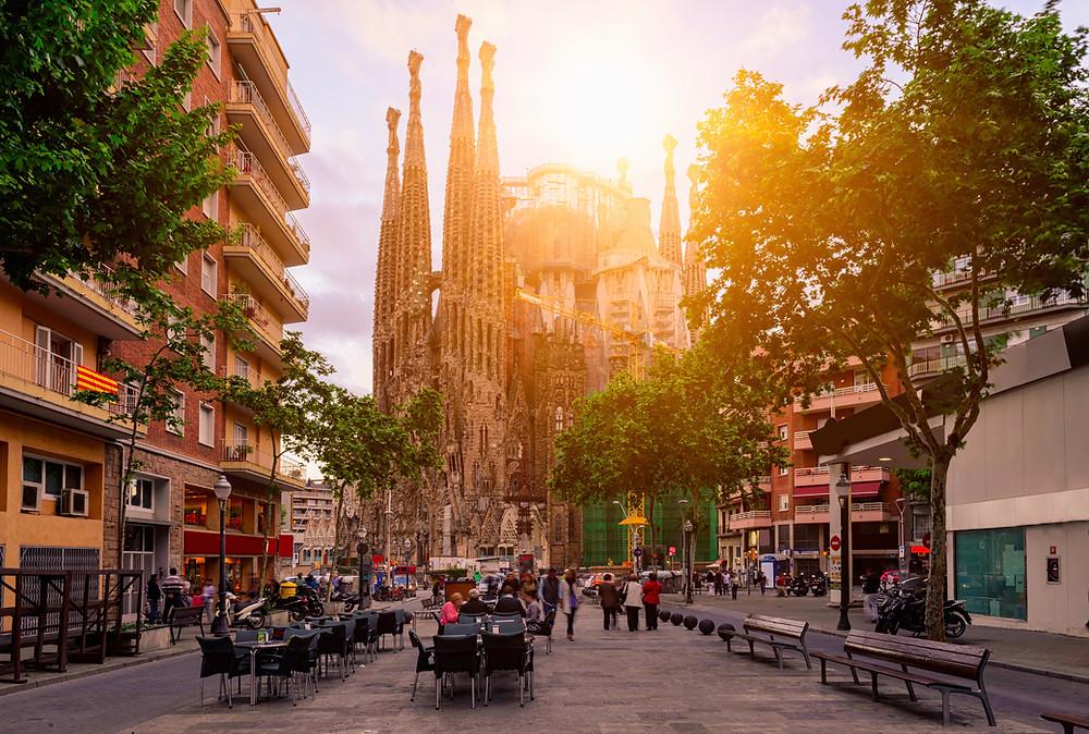 Iglesia de la sagrada familia en Barcelona.