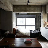 Cool Cement Bedroom
