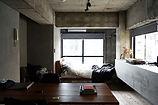 Kühles Zement-Schlafzimmer