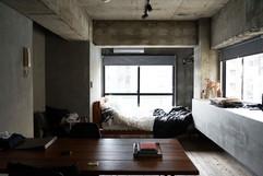 Cool Cement Bedroom