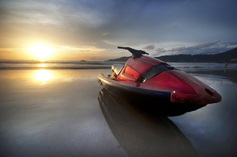 Jet Ski At Sunset