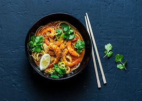 Shrimps and Noodles Soup