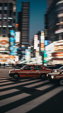Taxis at Night