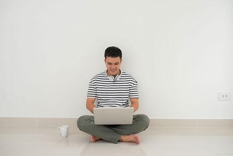 Man on His Laptop