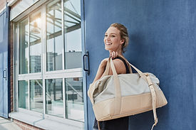Woman with Sports Bag