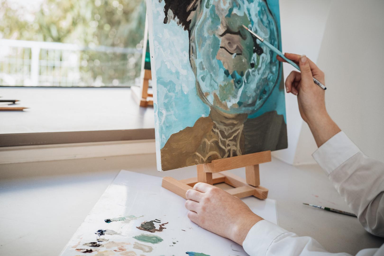 Peinture de l'artiste