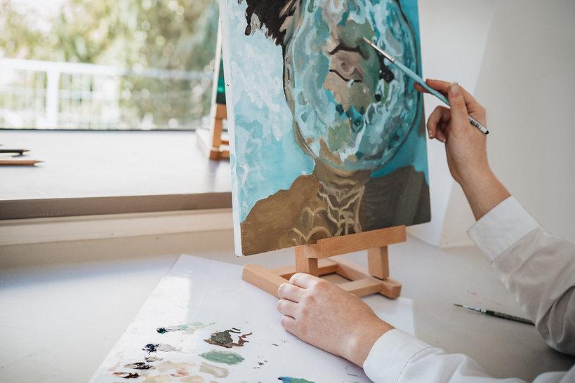 La pintura del artista
