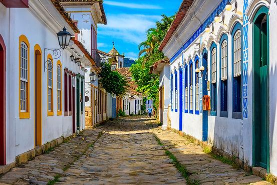 Rua de pedras em Paraty