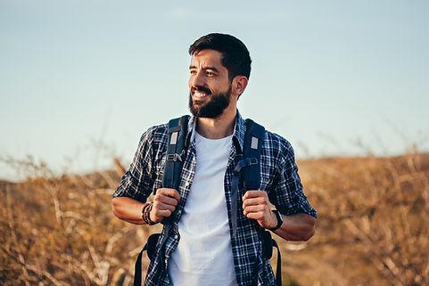 man with type 1 diabetes happy