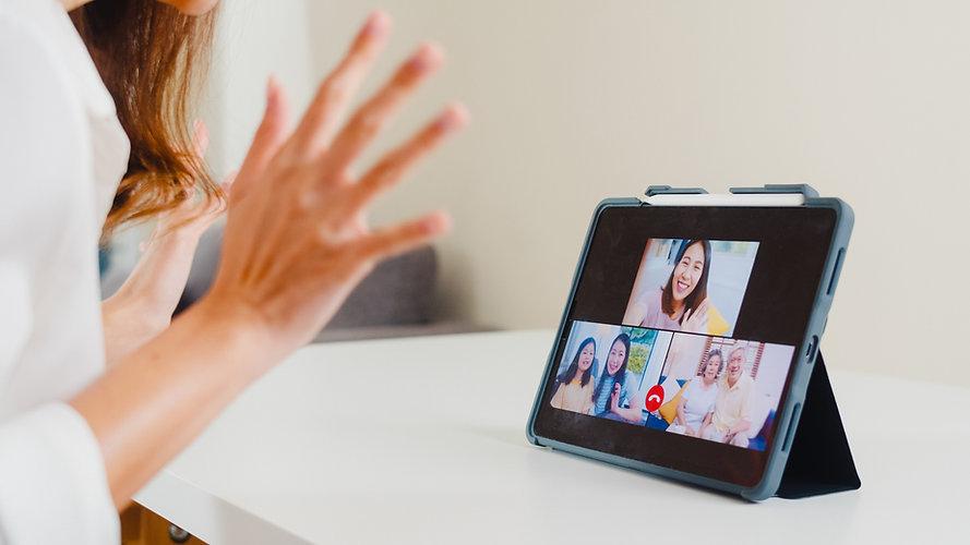 Families Communicating Via Video Calls