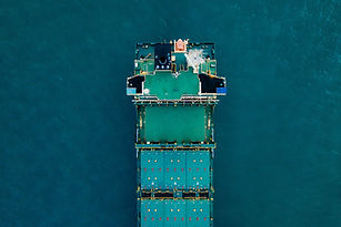 Cargo Ship at Sea
