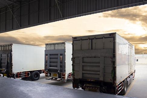Trucks Parked In Line