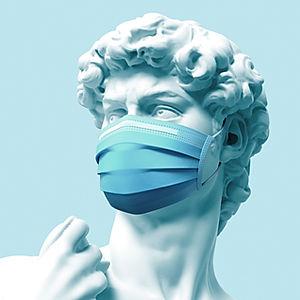 Standbeeld met masker
