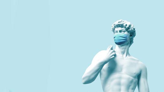 Statue avec masque
