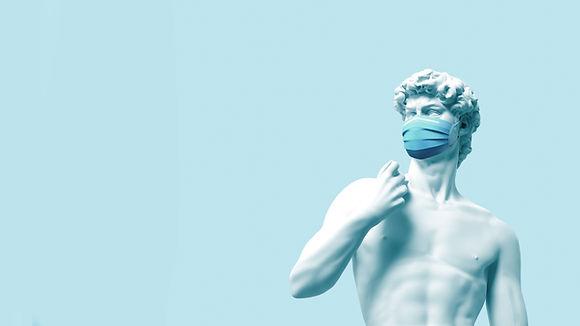 Statua con maschera