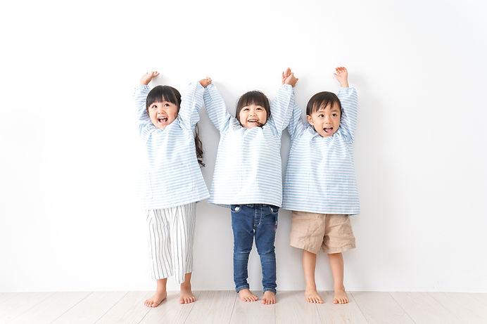 Drie schattige kinderen