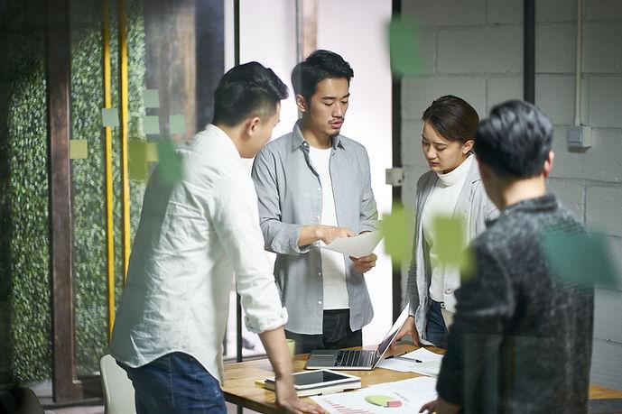 Reunião do escritório de negócios
