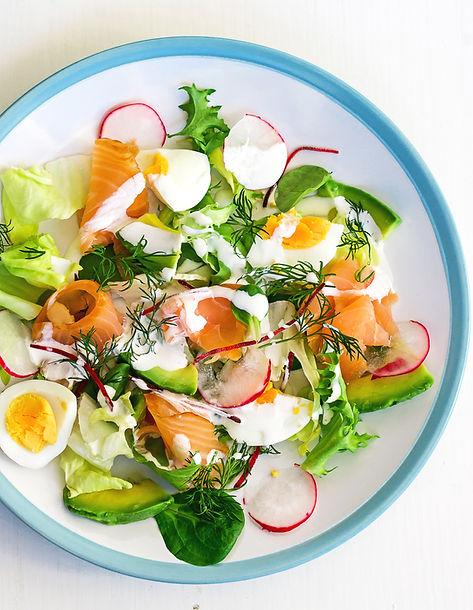 Egg and Salmon Salad