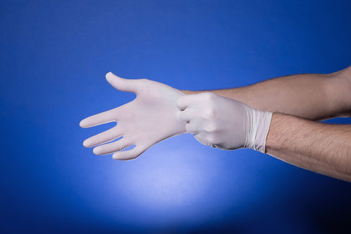 Latex Gloves (Box of 100 gloves)