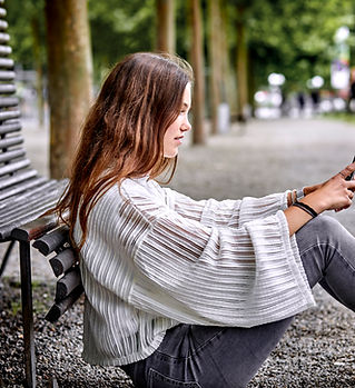 Teenager with Mobile Phone