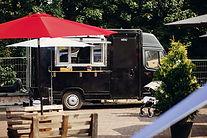 Camión de comida al aire libre