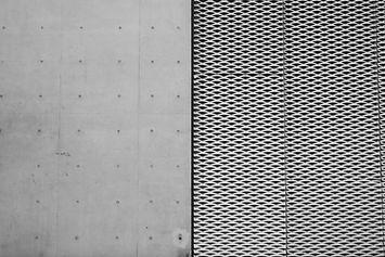 Mur de béton et d'acier