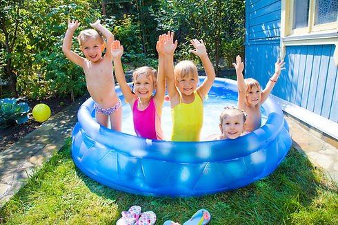 Happy Kids in Pool