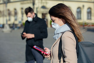 People with Masks Covid Safety
