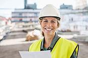 Trabajador sonriente