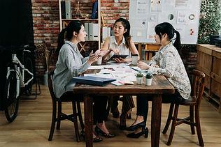 Reunião da equipe de trabalho