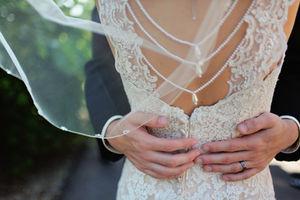 Abraçando a noiva