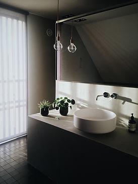 Salle de bain au design minimaliste