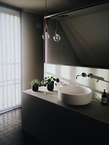 Minimal Design Badezimmer