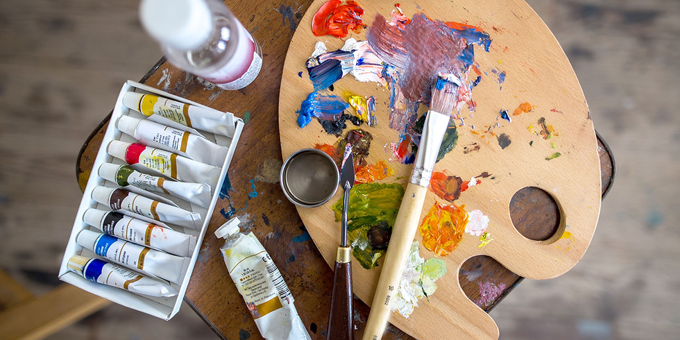 SilverKite Community Arts Class Sip and Paint (Acrylics) Virtual Live
