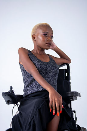 Beautiful Melanated Woman in Wheelchair