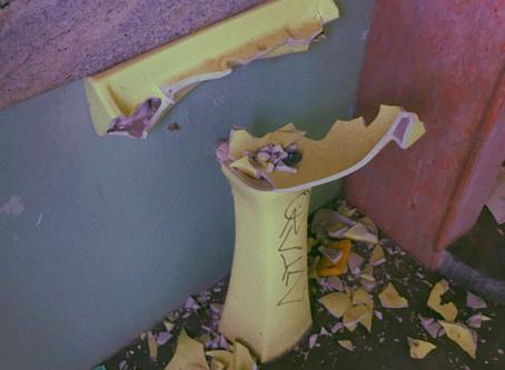 Demolition of a basement bathroom