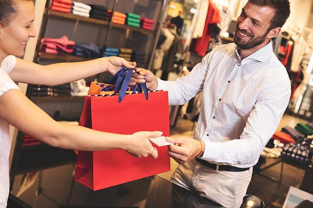 Bolso de compras rojo