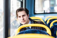 Sitting in Bus