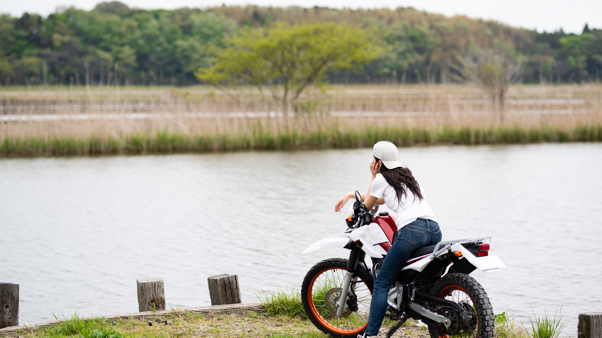 Motorcycle by the River