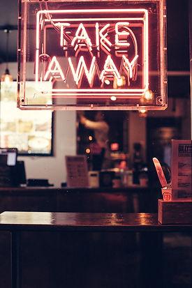 Take Away Neon Sign