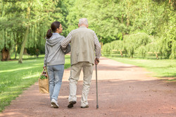 Walking Together in Park | Angel Heart Home Care | The Best Care For Your Loved Ones