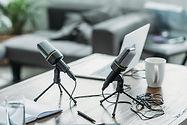 Radio show microphones