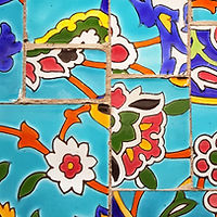 Mosaic Fower Tiles