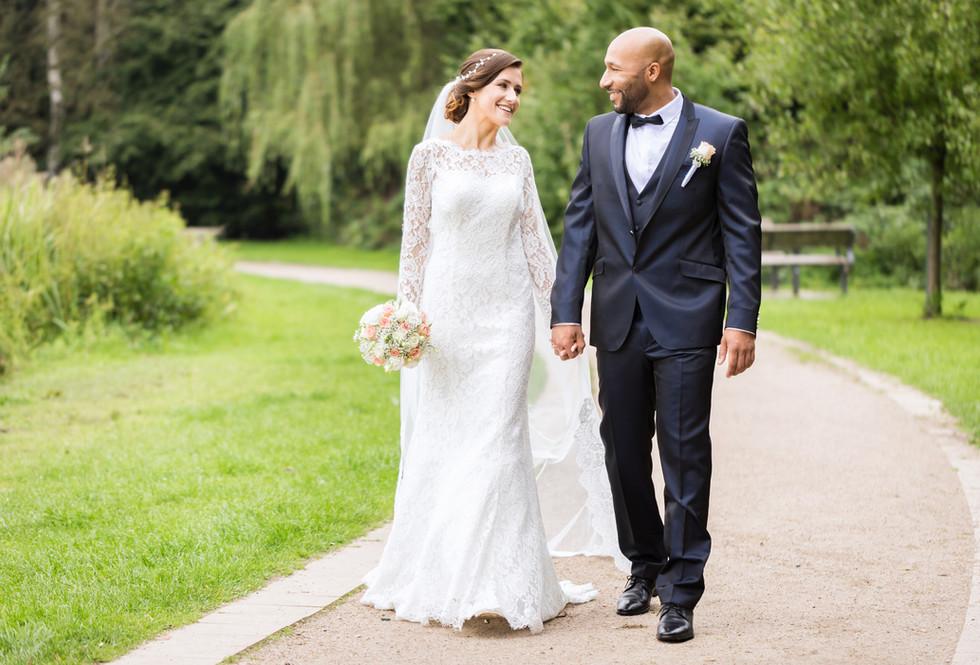 Fotografía de la boda al aire libre
